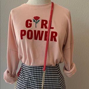 Pink Girl Power Sweatshirt